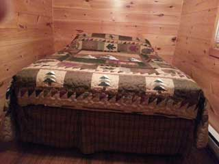 knotty pine bed